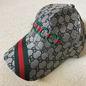 Accessories - Gucci Silver Logo Red Green Cap Adjustable Hat 432a4f34b26
